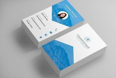 Customized Color Business Paper Cards , Create And Print Business Cards